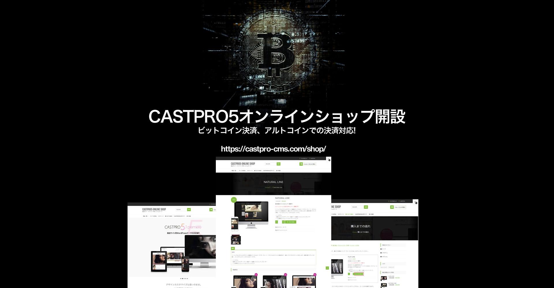 CASTPRO5オンラインショップ開設のお知らせ